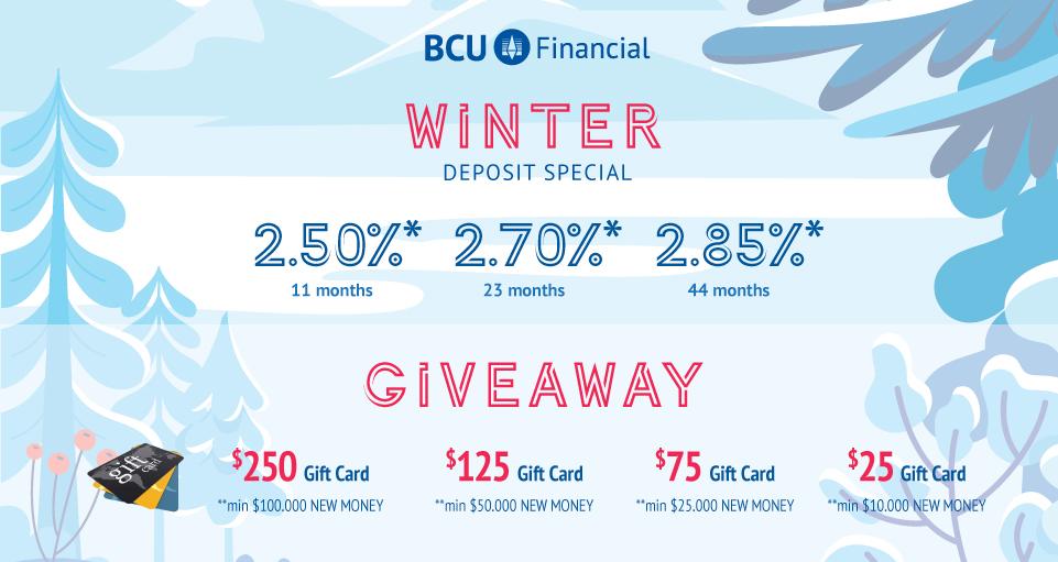 Winter deposit special
