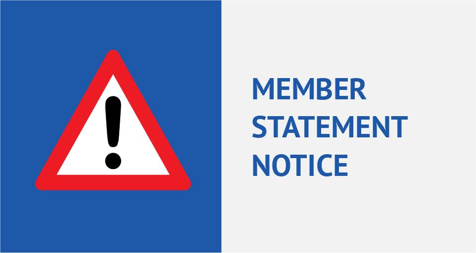 Member statement notice