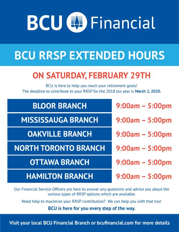 RRSP deadline extended hours