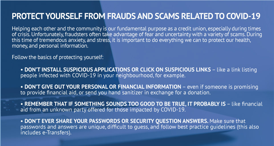 Protect yourself from frauds and scams