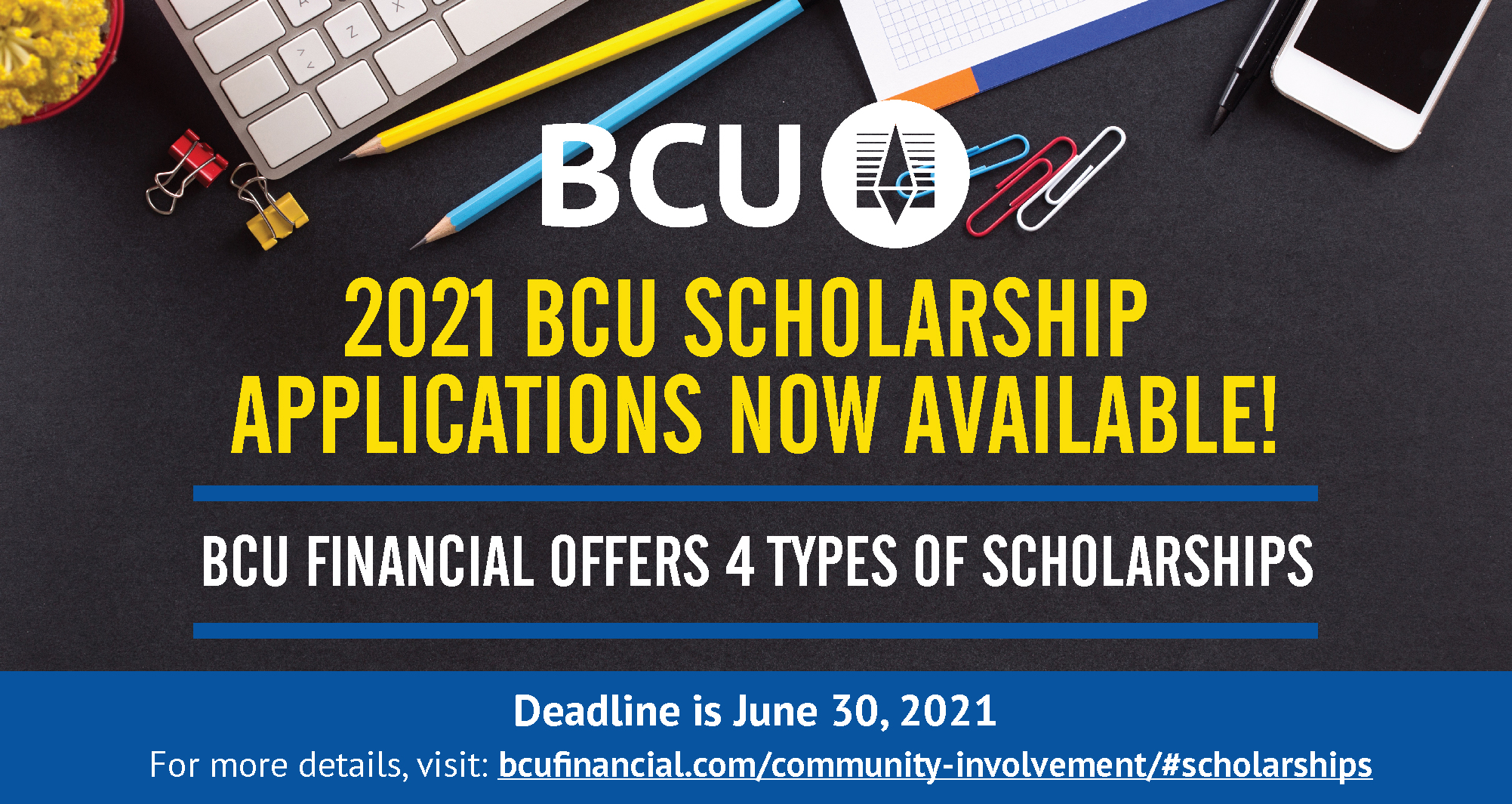 2021 BCU Scholarship applications now available