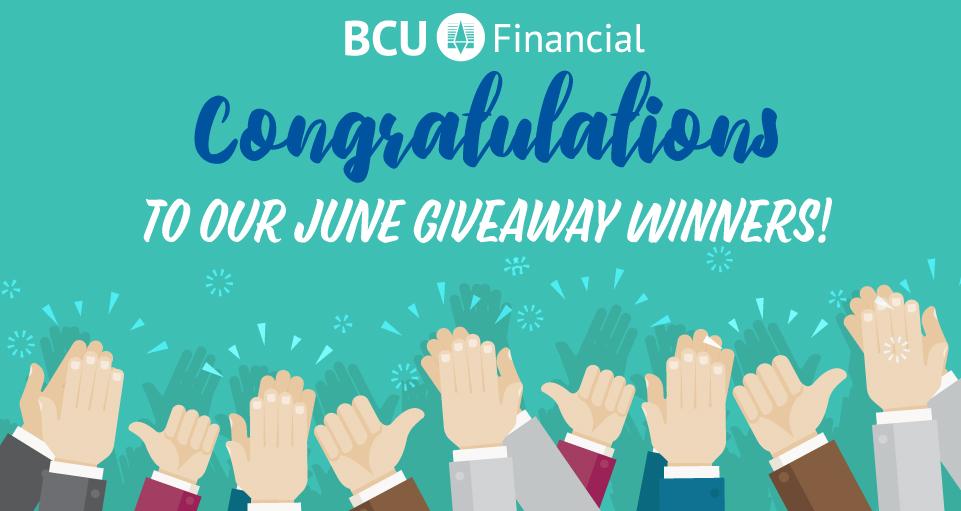 bcu giveaway june winners
