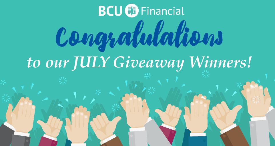 bcu giveaway july winners