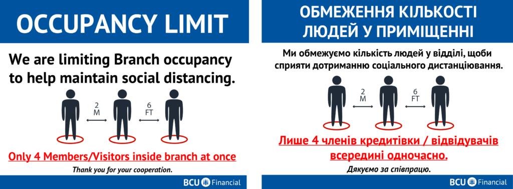 Branch occupancy limits