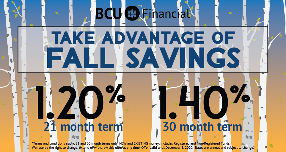 Fall Savings Deposit Special