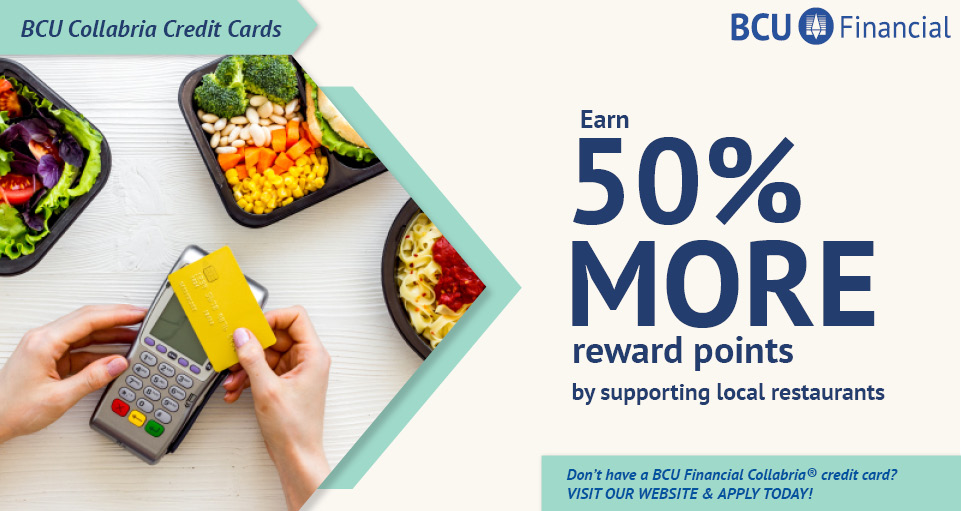 50% More Rewards for restaurants and takeout