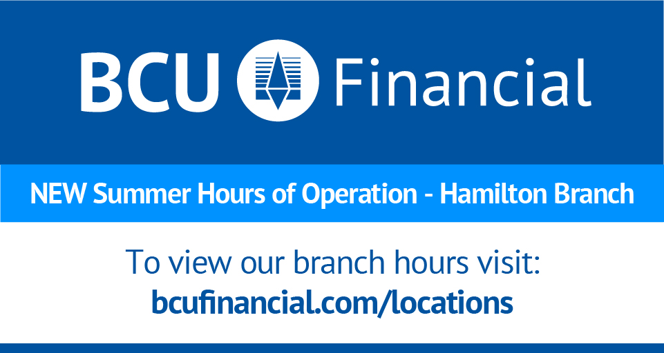 BCU Hamilton Summer Hours