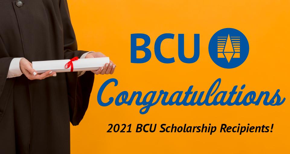 2021 BCU Scholarship Recipients