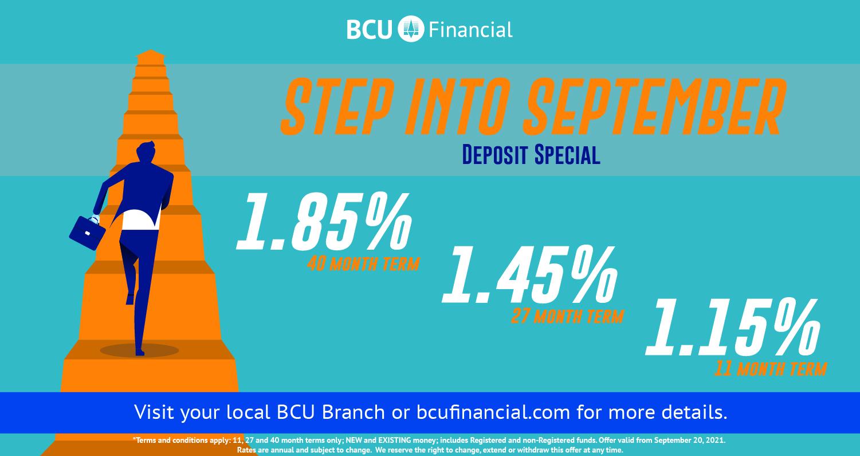 Step into September deposit special